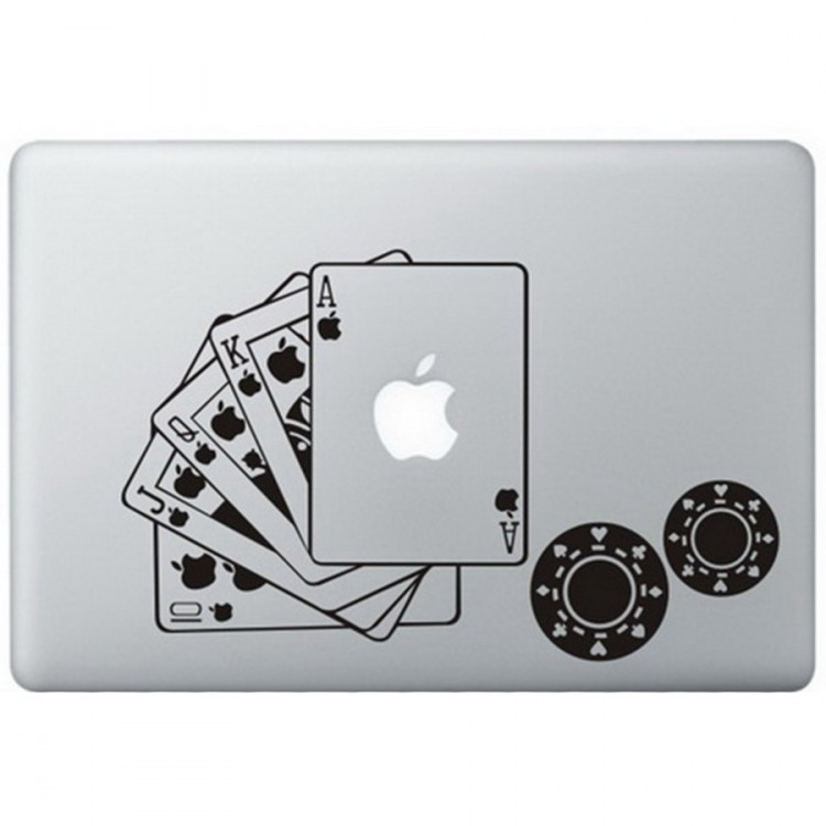 Poker MacBook Decal Black Decals