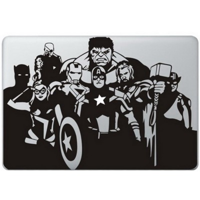 The Avengers MacBook Decal Black Decals