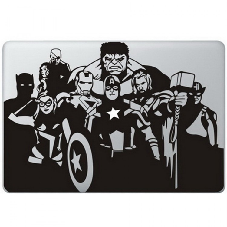 The Avengers MacBook Decal Black Decals