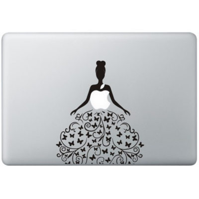 Butterfly Dress MacBook Decal