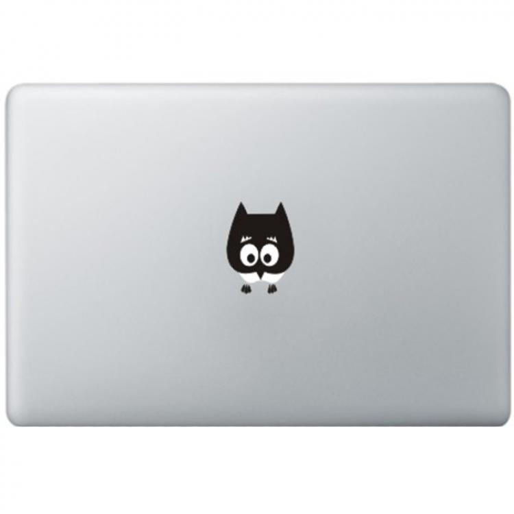 Baby Owl MacBook Decal Black Decals