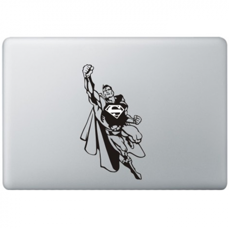 Superman (2) MacBook Decal Black Decals