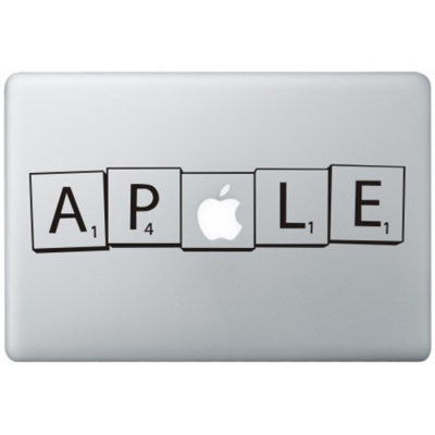 Scrabble MacBook Decal