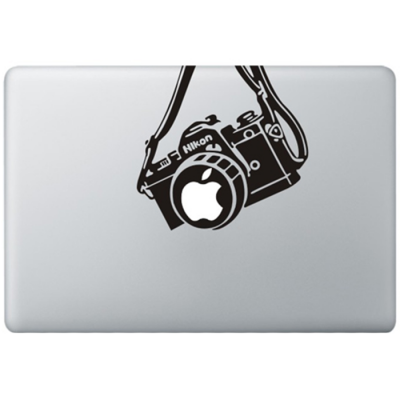 Nikon Vintage Camera MacBook Decal Black Decals