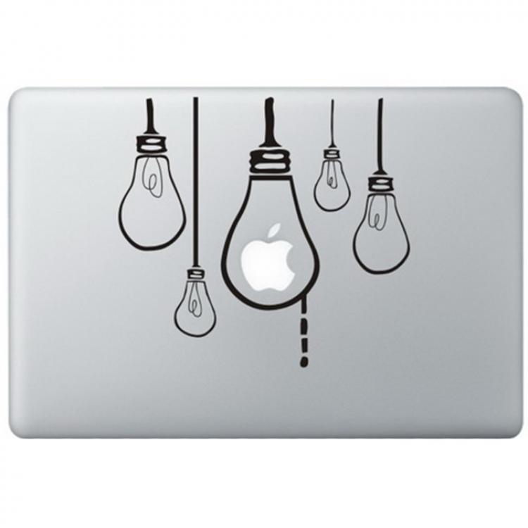 Hanging Lamps MacBook Decal Black Decals