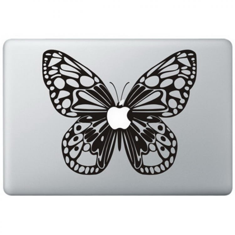 Butterfly Macbook Decal Black Decals