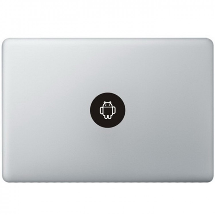 Android Logo MacBook Decal Black Decals