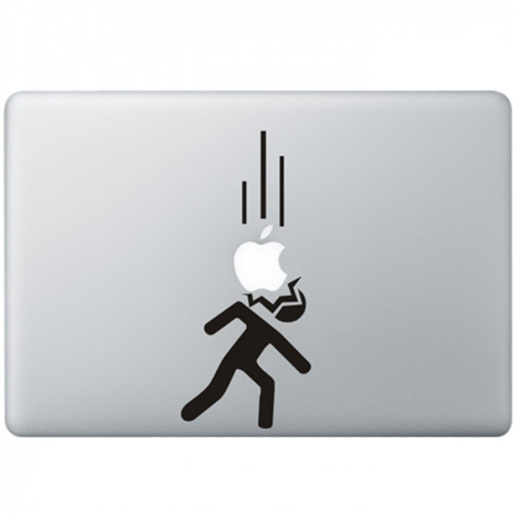 Falling Appels MacBook Decal Black Decals