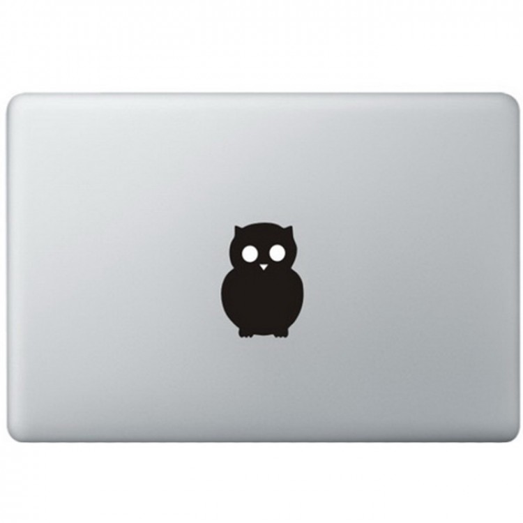 Owl Logo MacBook Decal Black Decals