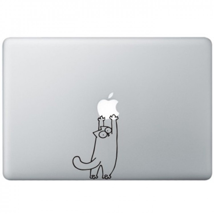 Simon's Cat (2) MacBook Decal Black Decals