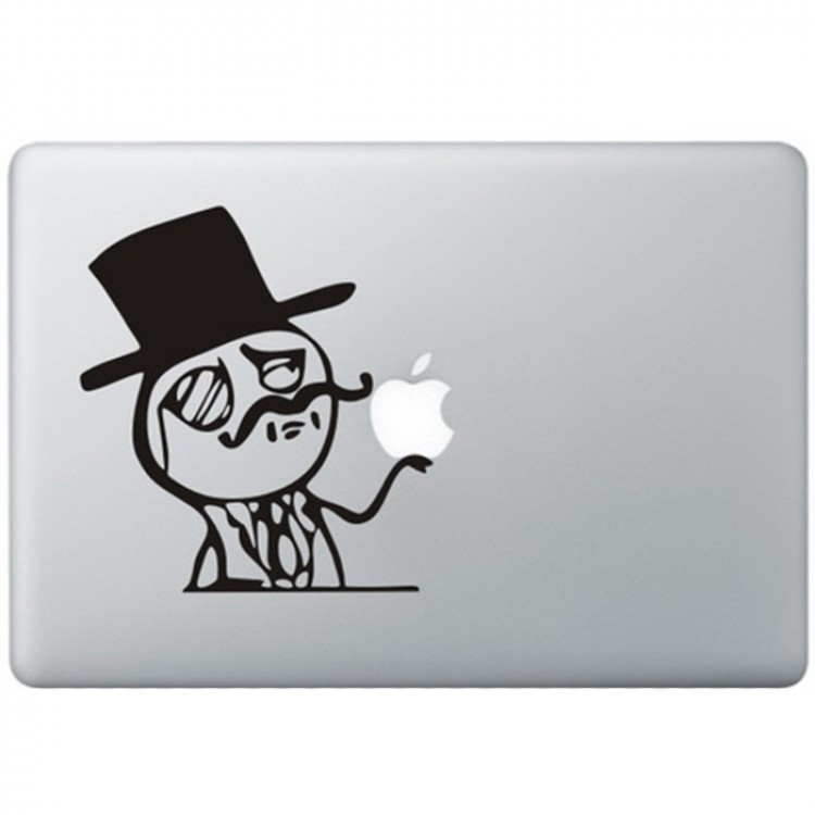Like A Sir Meme MacBook Decal Black Decals