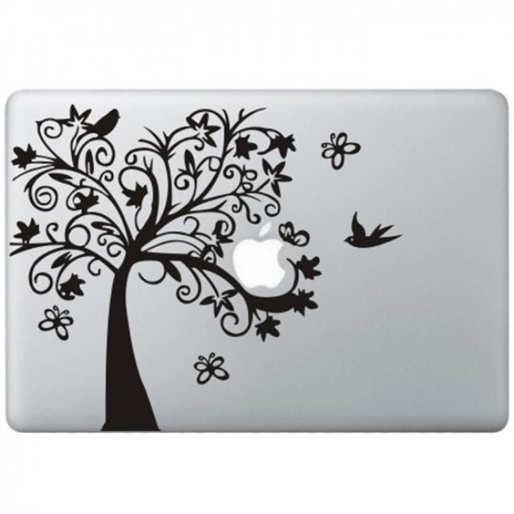 Fancy Tree MacBook Decal Black Decals
