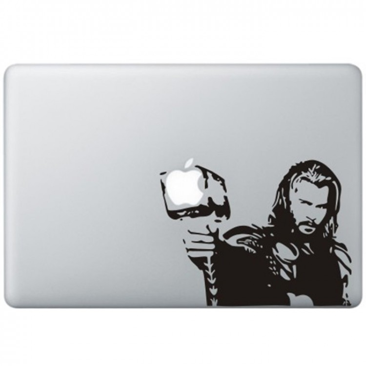 Thor MacBook Decal Black Decals