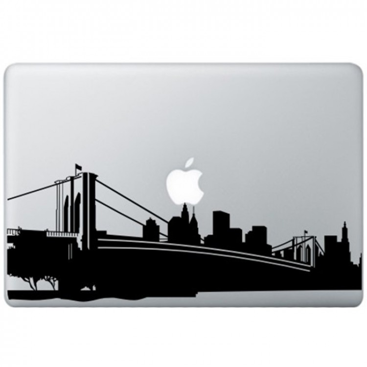 New York MacBook Decal Black Decals