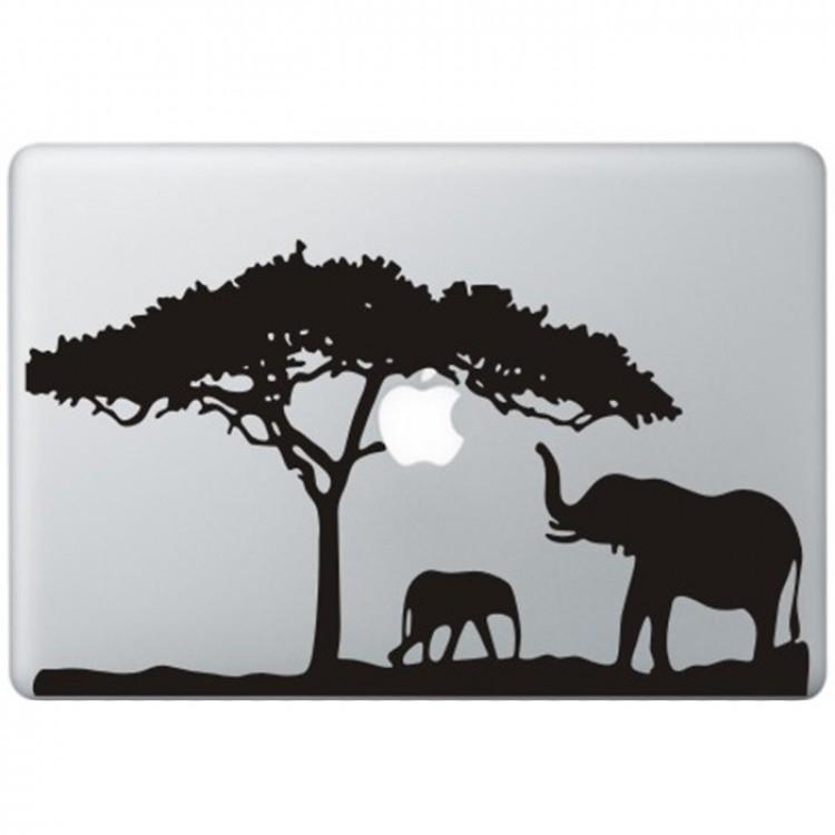 Africa MacBook Decal Black Decals
