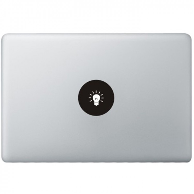 Lamp Logo MacBook Decal Black Decals