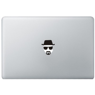 Breaking Bad Heisenberg MacBook Decal Black Decals