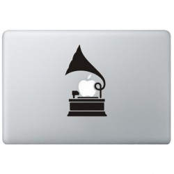 Grammofoon MacBook Decal
