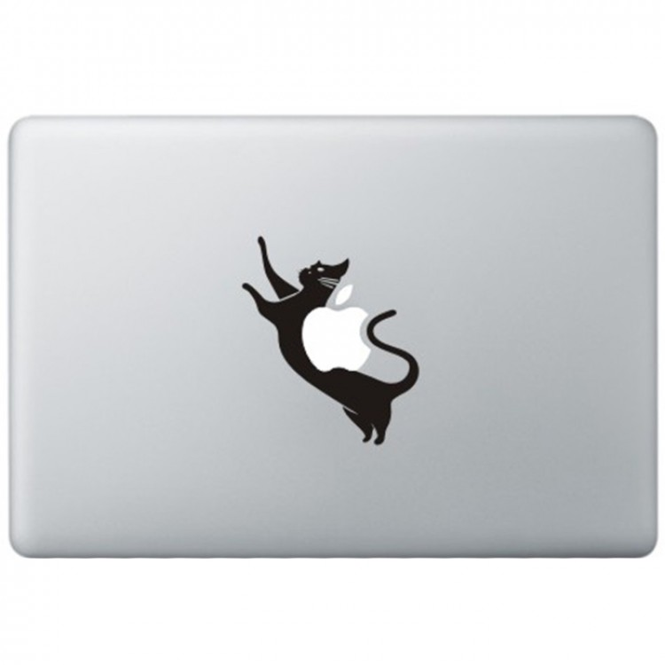 Space Kat MacBook Decal Black Decals