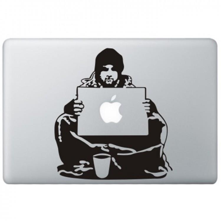 Banksy Bum MacBook Decal Black Decals