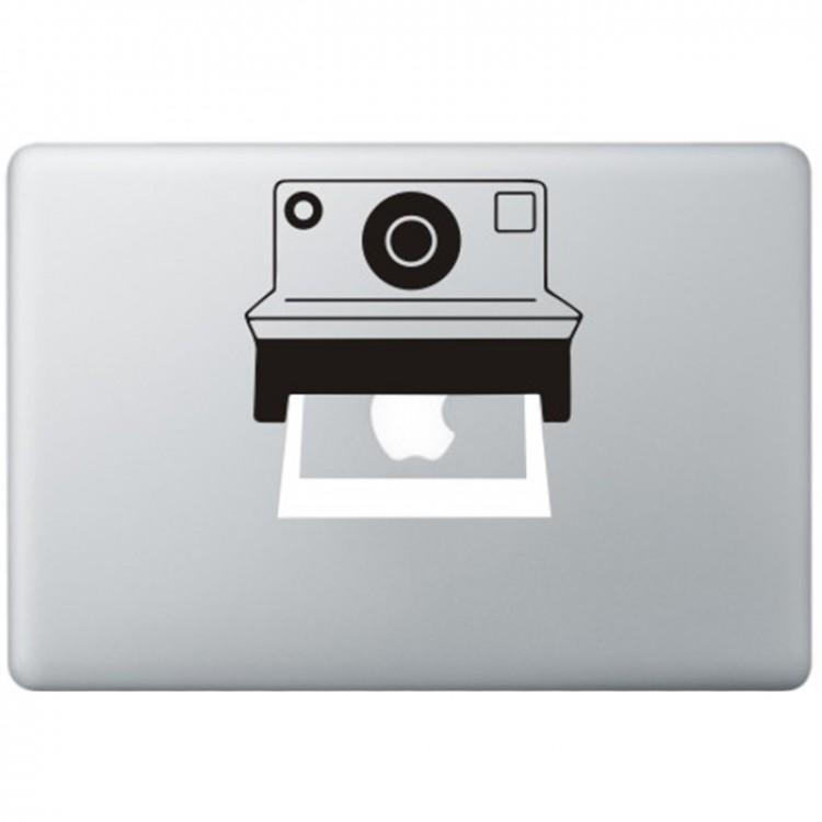 Polaroid Camera MacBook Decal Black Decals