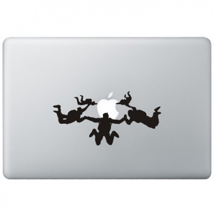 Skydiving MacBook Decal Black Decals