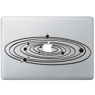 Milky Way MacBook Decal Black Decals