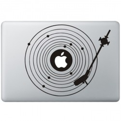 Record Player MacBook Decal