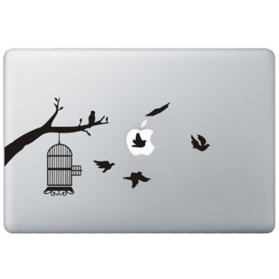 Birds MacBook Decal Black Decals
