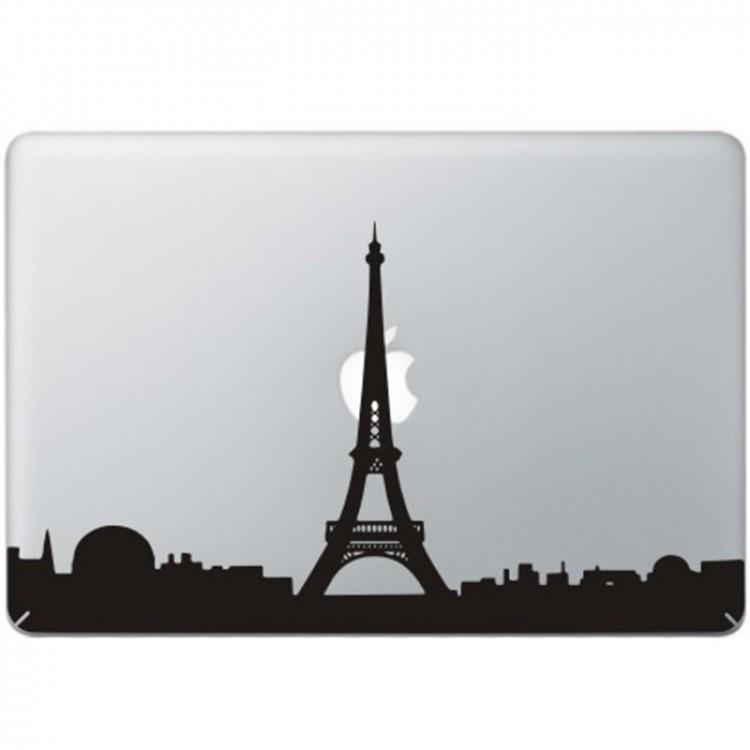 Paris Eiffel Tower MacBook Decal Black Decals