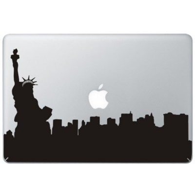 New York Statue of Liberty MacBook Decal Black Decals