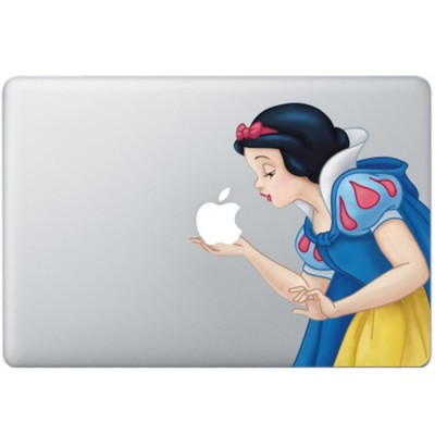 Snow White Colour (2) MacBook Decal