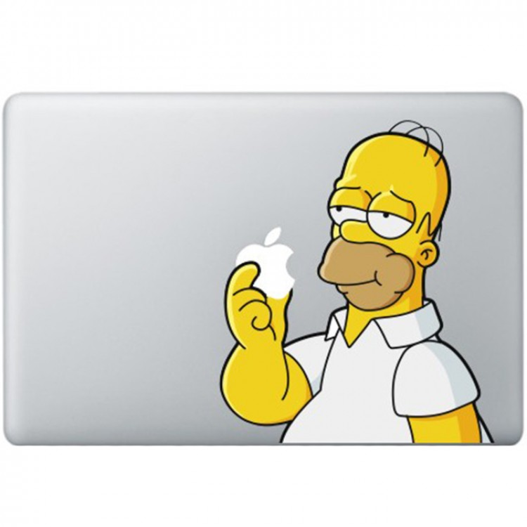 Homer Simpsons MacBook Decal Full Colour Decals