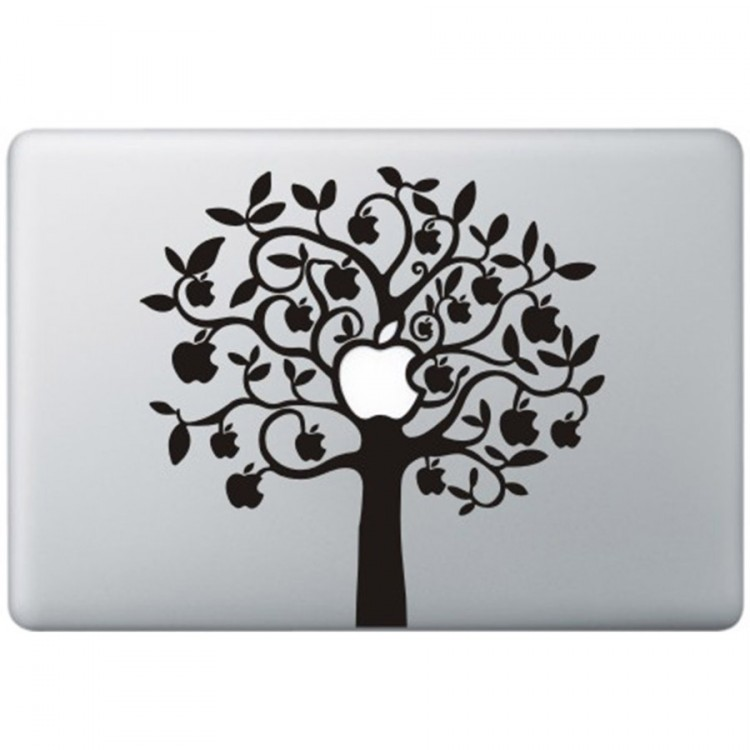Apple Tree (2) MacBook Decal Black Decals