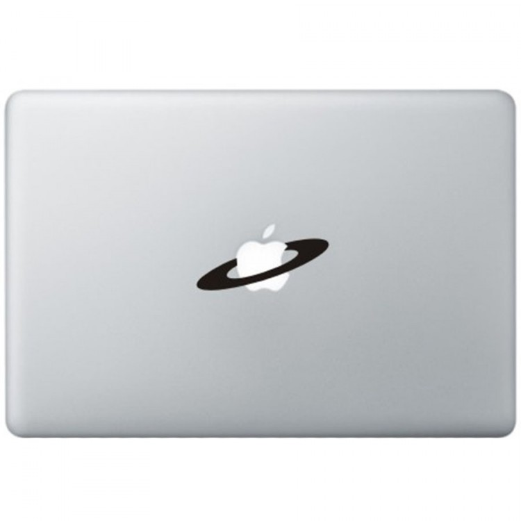 Apple Space MacBook Decal Black Decals