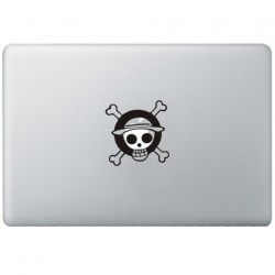 One Piece Monkey Logo MacBook Decal