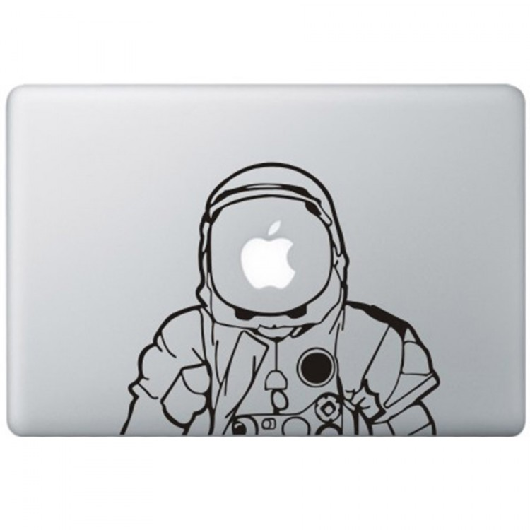 Astronaut MacBook Decal Black Decals
