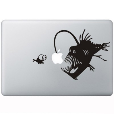 Devil Fish MacBook Decal Black Decals