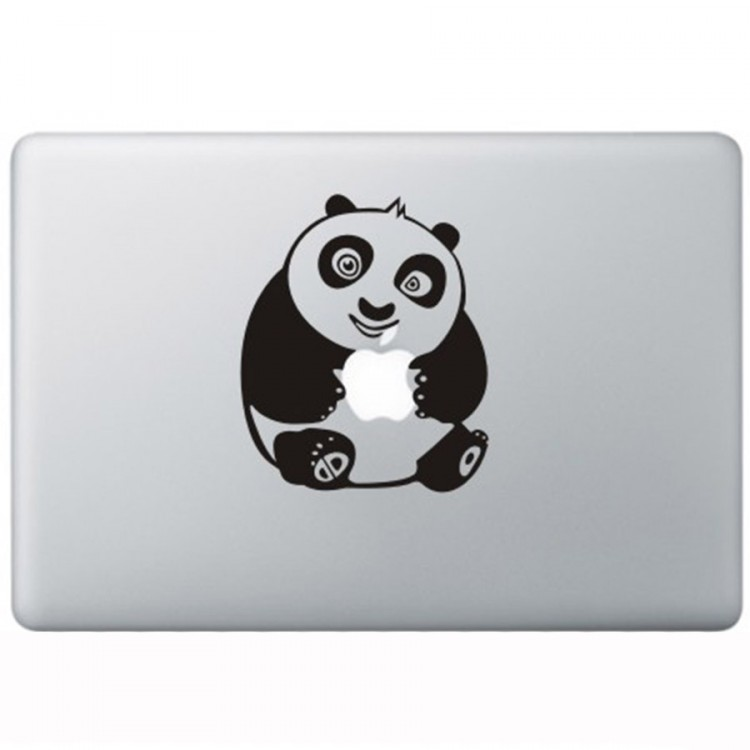 Kung Fu Panda MacBook Decal Black Decals