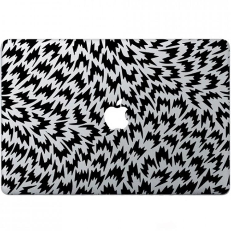 Optical Illusion Macbook Decal Black Decals