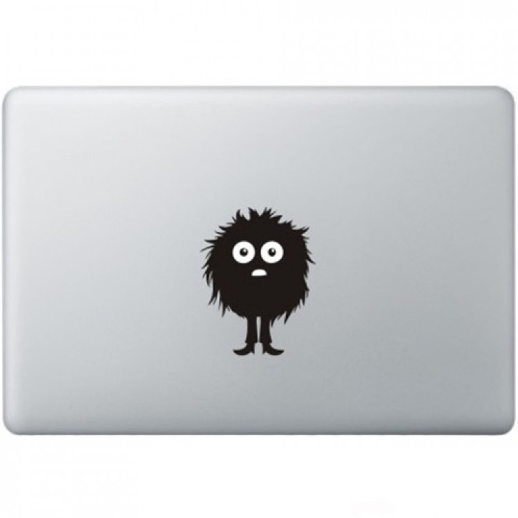 Fuzzy Guy Macbook Decal Black Decals