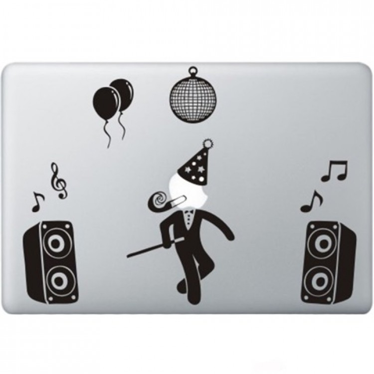 Party Guy Macbook Decal Black Decals