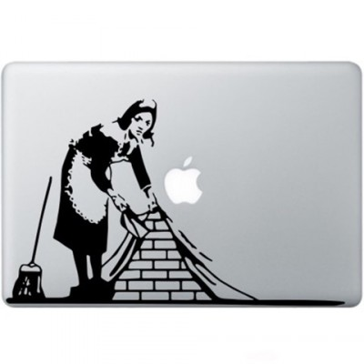 Banksy Maid In London Macbook Decal