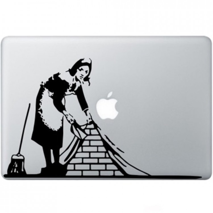 Banksy Maid In London Macbook Decal Black Decals