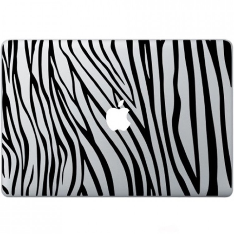Zebra Print Macbook Decal Black Decals