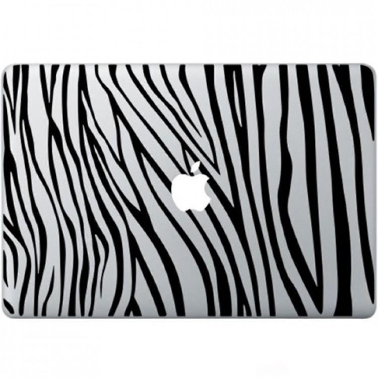 Zebra Print Macbook Decal Black Decals