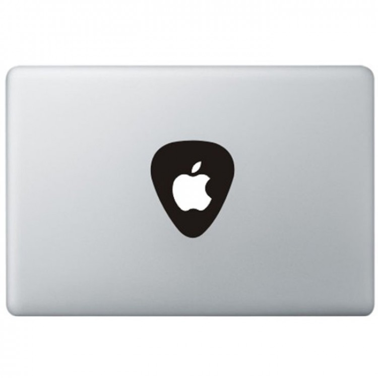 Guitar Pick Logo Macbook Sticker Black Decals