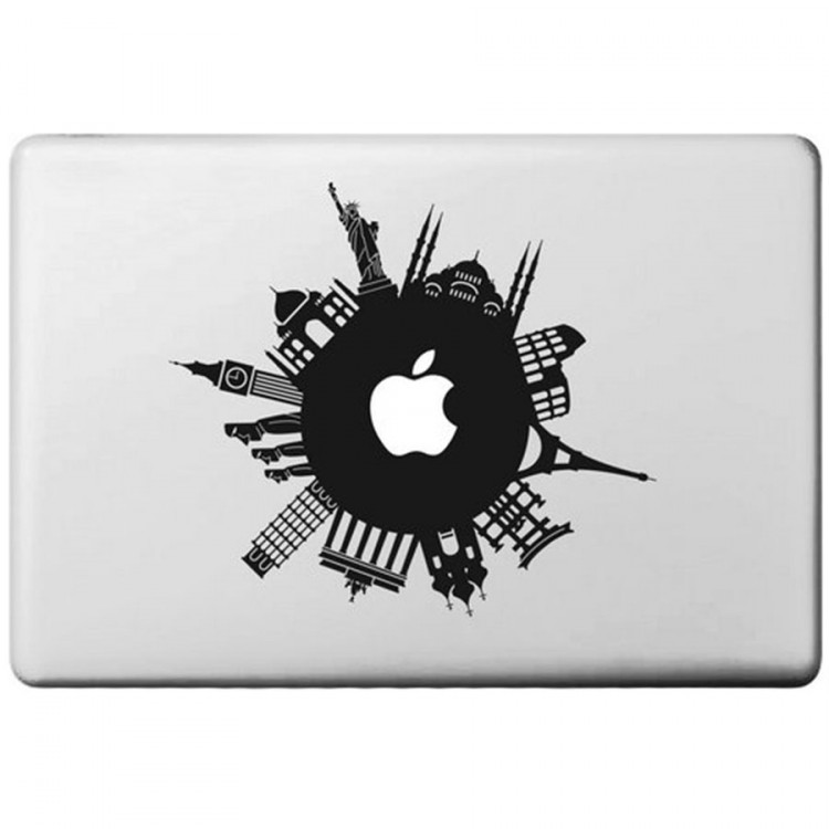 Around The World Macbook Decal MacBook Decals