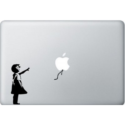 Banksy Girl MacBook Decal