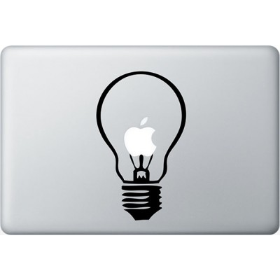 Light Bulb MacBook Decal Black Decals
